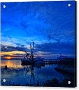 Blue Sky Sunset Acrylic Print