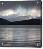 Blue Sky Through Dark Clouds Acrylic Print
