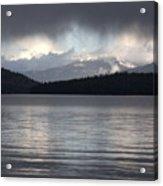 Blue Sky Through Dark Clouds Acrylic Print