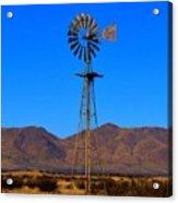 Blue Sky Windmill Acrylic Print