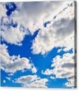 Blue Sky With Cloud Closeup 2 Acrylic Print