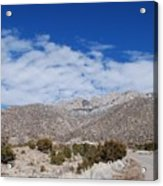 Blue Skys Over The Sandias Acrylic Print