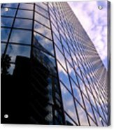 Blue Skyscrapper With A Blue Sky In New Orleans Louisiana Acrylic Print