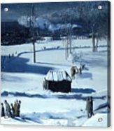 Blue Snow. The Battery Acrylic Print