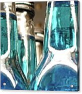 Blue Soda Abstract Acrylic Print