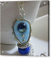 Blue Space Necklace Acrylic Print