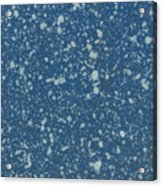 Blue Speckle Acrylic Print