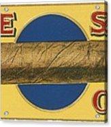 Blue Spot Cigars Acrylic Print