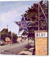 Blue Star Auto Acrylic Print