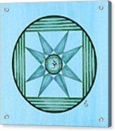 Blue Star Om Acrylic Print