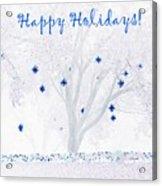 Blue Star Tree Acrylic Print