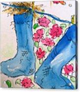 Blue Stockings Acrylic Print