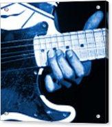Blue String Bender Acrylic Print