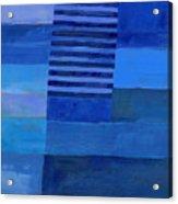Blue Stripes 7 Acrylic Print