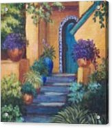 Blue Tile Steps Acrylic Print by Candy Mayer