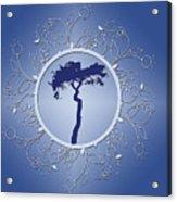 Blue Tree Of Life Acrylic Print