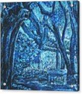 Blue Trees Acrylic Print by Patricia Gomez