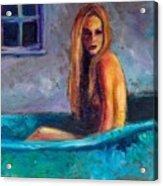 Blue Tub Study Acrylic Print