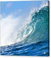 Blue Tube Wave Acrylic Print