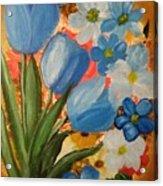 Blue Tulip Trio Acrylic Print