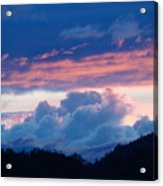Blue Twilight Clouds Art Prints Mountain Pink Sunset Baslee Troutman Acrylic Print