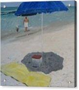 Blue Umbrella Acrylic Print