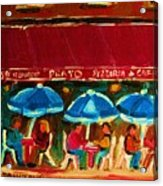 Blue Umbrellas Acrylic Print