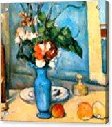 Blue Vase By Paul Cezanne Acrylic Print