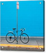 Blue Wall Bicycle Acrylic Print