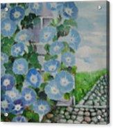Blue Wall Acrylic Print