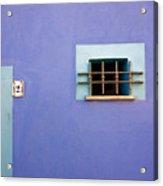 Blue Wall Window And Door Acrylic Print