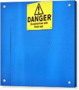 Blue Warning 2 Acrylic Print