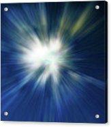 Blue Warp Acrylic Print