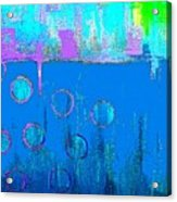 Blue Water And Sky Abstract Acrylic Print