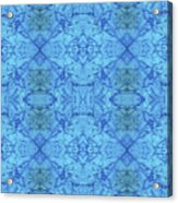 Blue Water Batik Tiled Acrylic Print