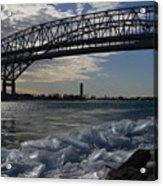 Blue Water Bridge In Winter Acrylic Print