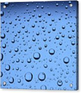 Blue Water Bubbles Acrylic Print by Frank Tschakert
