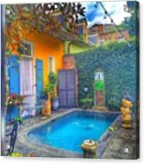 Blue Water Courtyard Acrylic Print