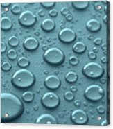Blue Water Drops Acrylic Print by Blink Images