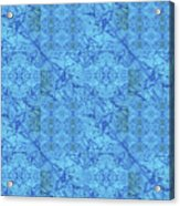 Blue Water Patchwork Acrylic Print