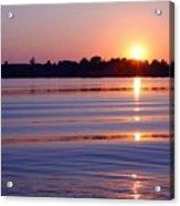 Blue Water Sunset Acrylic Print