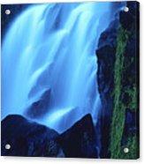 Blue Waterfall Acrylic Print by Bernard Jaubert