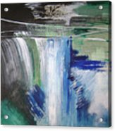 Blue Waterfalls Acrylic Print