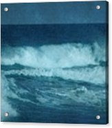 Blue Waves - Jersey Shore Acrylic Print by Angie Tirado