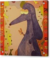 Blue Weiner Acrylic Print