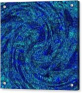 Blue Whirl Wind In The Sky Acrylic Print