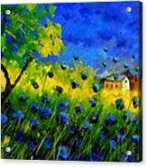 Blue Wild Flowers Acrylic Print