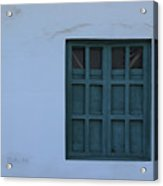Blue Window In A Wall Acrylic Print