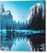 Blue Winter Fantasy. L B Acrylic Print