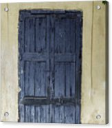 Blue Wood Door Acrylic Print